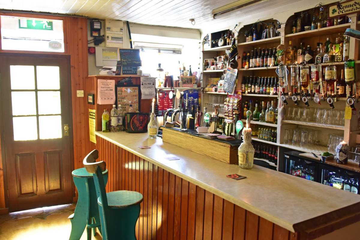 The interior of Kennedy's has been carefully renovated by owner Michael Murphy.