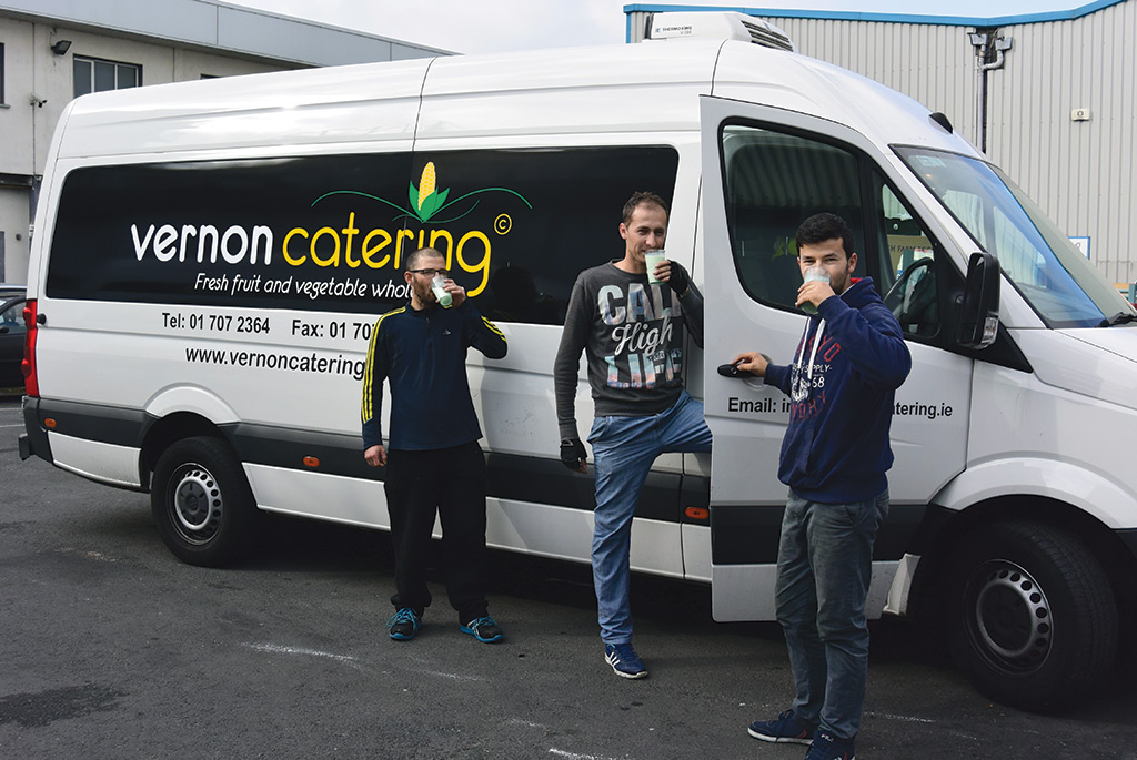The vernon Catering team gets to work at 3.30am.