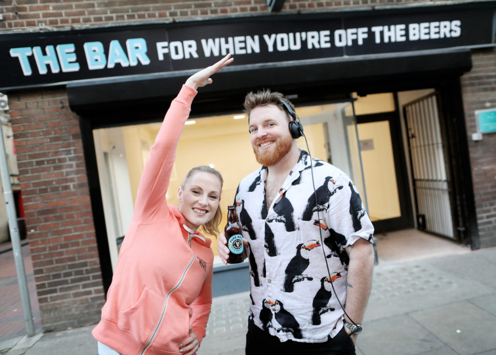 Fearless Moves Fitness founder Julie Blakeney with DJ Marcus O'Laoire.
