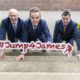 Members of the Licenced Vintners Association advertising their Jump for James's charity initiative.