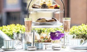 An afternoon tea display at The Westbury Dublin