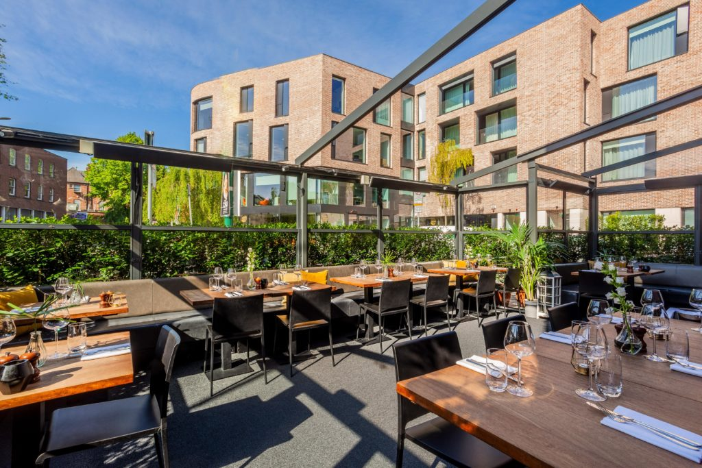 The summer terrace at Asador restaurant, Dublin