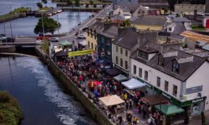An aerial view of Raven Street, Galway, during the 2019 Galway Street Feastival