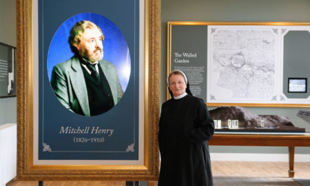 Sr Magdalena and talking portrait of Mitchell Henry