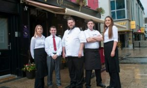 The staff of Croi Tralee outside their restaurant