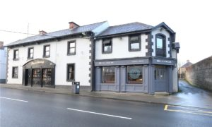 An outside view of Shearman's Pub, Dunleer