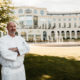 Chef Darrin Parrish in front of the Powerscourt Hotel, Ireland