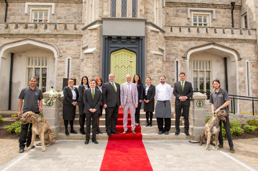 Staff outside Killeavy Castle Estate