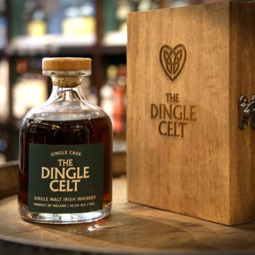 A bottle of Dingle Celt Whiskey