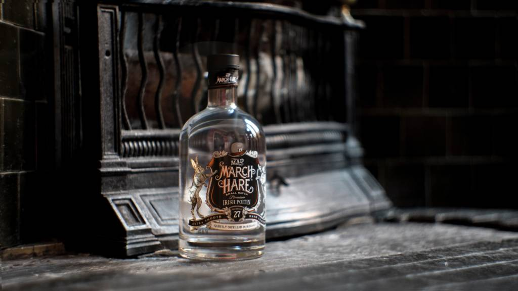 Mad March Hare Poitin Bottle