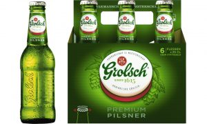 A Grolsch multiack of bottles