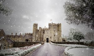 Kilkea Castle in the snow