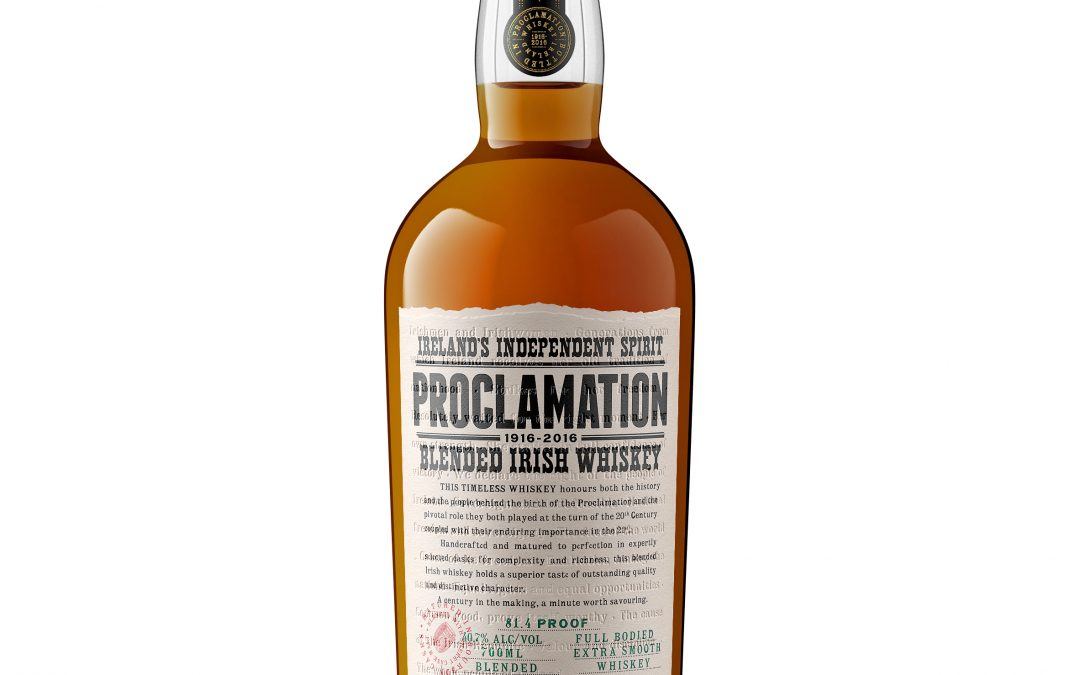 Proclamation Blended Irish Whiskey Launches in Ireland
