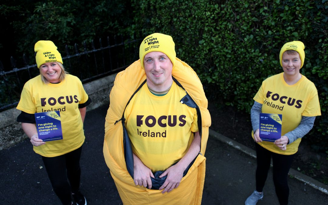 Sodexo Sleeps out for Focus Ireland Shine a Light Night