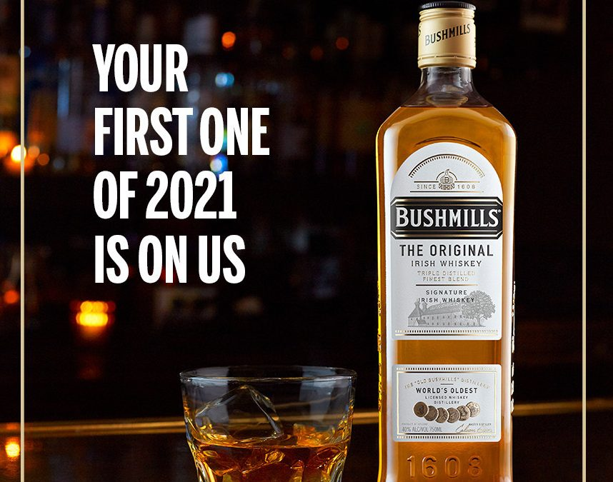 Bushmills is Buying America's First Drink of 2021