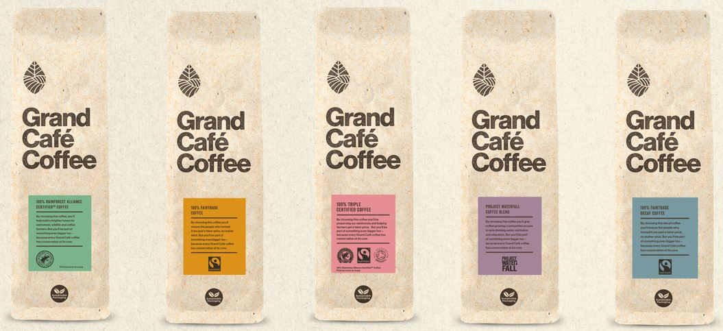 Grand Café Rebrands and Partners with Conservation International