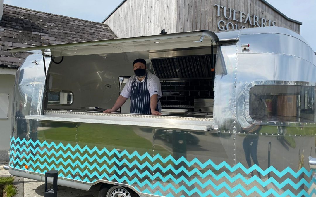 Serving from a Vintage Airstream at Tulfarris