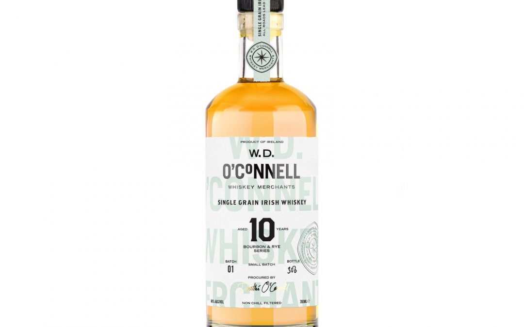 W.D. O'Connell Whiskey release 10 Year-Old Single Grain